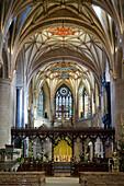 Apse of Tewkesbury Abbey (Abbey Church of St. Mary the Virgin), Tewkesbury, Gloucestershire, England, United Kingdom, Europe