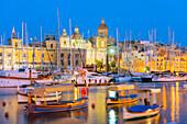 Grand Harbour Marina, Vittoriosa (Birgu), The Three Cities, Malta, Mediterranean, Europe