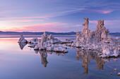 Salt pillar formations at sunset, South Tufa, Mono Lake, California, United States of America, North America