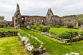 The abandoned ruins of the old nunnery on Iona Island, western Outer Hebrides, Scotland, United Kingdom, Europe