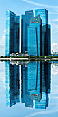 Reflections, Downtown Central financial district, Singapore, Southeast Asia, Asia