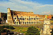 Colosseum and Arch of Constantine, UNESCO World Heritage Site, Rome, Lazio, Italy, Europe