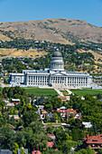 View over the Utah State Capitol, Salt Lake City, Utah, United States of America, North America