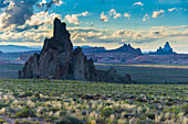Rock formations in the late daylight near Monument Valley, Arizona, United States of America, North America