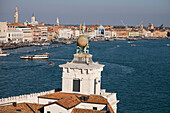 Punta della Dogana (Dogana di Mare), the old Venice customs post, now a modern art museum, seen from the Patriarchal Seminary of Venice, UNESCO World Heritage Site, Veneto, Italy, Europe