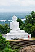 The Great seated Buddha at Mihintale, Sri Lanka, Asia