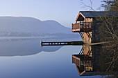 The Boathouse, Lake Ullswater, Lake District National Park, Cumbria, England, United Kingdom, Europe