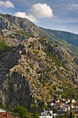 Old Town Fortifications, Kotor, Bay of Kotor, UNESCO World Heritage Site, Montenegro, Europe