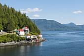 Boat Bluff Lightstation, Inside Passage, British Columbia, Canada, North America