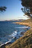 Coast near L'lle Rousse, Corsica, France, Mediterranean, Europe