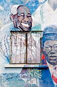 Mural, Bathsheba Community Center, St. Joseph's Parish, Barbados, West Indies, Caribbean, Central America