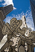 Group of Four Trees by Jean Dubuffet's, Chase Manhattan Plaza, Lower Manhattan, New York City, New York, United States of America, North America