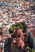 Overview of Guanajuato city from the monument of El Pipila, Guanajuato, Mexico, North America
