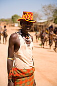 Tribesman of the Hamer Tribe, subsistence agro-pastoralists, Lower Omo Valley, Turmi, Southern Ethiopia, East Africa, Africa