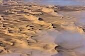 Aerial photo of sand dunes, Skeleton Coast Park, Namibia, Africa