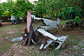 Remains of a World War II aircraft, Biak, Papua, Indonesia, Asia