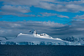 Snow-covered mountains, Gerlache Strait, Graham Land, Antarctica