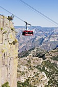 Cable car at Barranca del Cobre (Copper Canyon), Chihuahua state, Mexico, North America