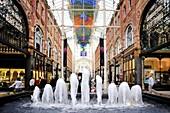 Interior of the Victoria Quarter Shopping Arcade, Leeds, West Yorkshire, England, United Kingdom, Europe