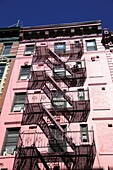 Tenement building, fire escape, Soho, Manhattan, New York City, United States of America, North America
