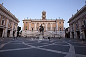The Campidoglio, the buildings house the city hall and Capitoline museums, Rome, Lazio, Italy, Europe