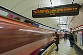 Bank Underground Station Central Line platform, London, England, United Kingdom, Europe