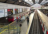 District Line platforms, Earls Court Underground Station, London, England, United Kingdom, Europe