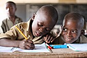 Primary school in Africa, Lome, Togo, West Africa, Africa