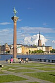 City skyline from City Hall, Stockholm, Sweden, Scandinavia, Europe