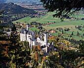 Neuschwanstein Castle, west of Fussen, Bavaria, Germany, Europe