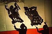 Giant shadow puppets show (Nang Yai), Thailand, Southeast Asia, Asia