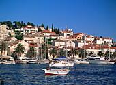 Yachts in Hvar Town, Hvar Island, Dalmatia, Dalmatian Coast, Croatia, Europe