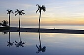 Reflections in a swimmimg pool, Sine Saloum Delta, Senegal, West Africa, Africa