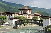 Punakha Dzong dating from 1637, Punakha, Bhutan, Asia