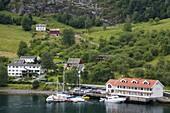 Flam village, Sognefjorden, Western Fjords, Norway, Scandinavia, Europe