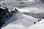 Mountaineers and climbers, Mont Blanc range, French Alps, France, Europe