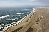 Aerial photo of the Skeleton Coast, Namibia, Africa