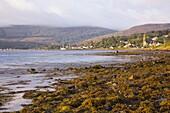 The calm waters of Lamlash Bay, early morning, Lamlash, Isle of Arran, North Ayrshire, Scotland, United Kingdom, Europe