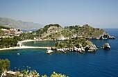 Isola Bella island and beach, Taormina, Sicliy, Italy, Mediterranean, Europe