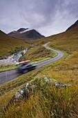 Touring the highlands of Scotland, Glen Etive, Highlands, Scotland, United Kingdom, Europe