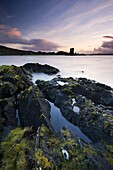Castle Stalker, from the shores of Loch Linnhe near Port Appin, Highlands, Scotland, United Kingdom, Europe