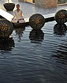 Meditation, Shangri La Boracay Resort and Spa in Boracay, Philippines, Southeast Asia, Asia