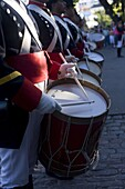Drummers in a Military Band, Buenos Aires, Argentina, South America