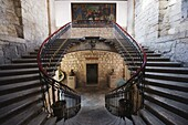 Staircase in Colegio de San Nicolas, dating from 1540, The University of Michoacan, first university in the Americas, Morelia, UNESCO World Heritage Site, Michoacan state, Mexico, North America