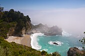 Julia Pfeiffer Burns State Park, McWay Waterfall, Highway 1, California, United States of America, North America
