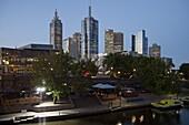 City Centre and Yarra River, Melbourne, Victoria, Australia, Pacific