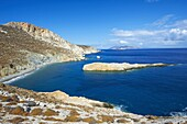 Katergo beach, Folegandros, Cyclades Islands, Greek Islands, Aegean Sea, Greece, Europe
