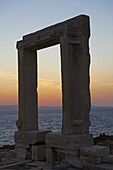 Gateway, Temple of Apollo, at the archaeological site, Naxos, Cyclades Islands, Greek Islands, Aegean Sea, Greece, Europe