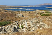Archaeological site, Delos, UNESCO World Heritage Site, Cyclades Islands, Greek Islands, Aegean Sea, Greece, Europe