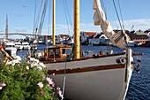 Traditional wooden boat, Colin Archer type, Haugesund, Norway, Scandinavia, Europe